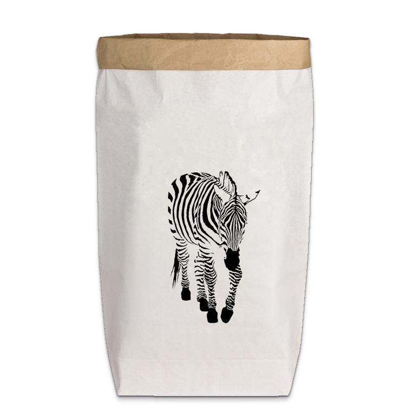 """PaperBag groß """"Zebra"""", Gr. L"""
