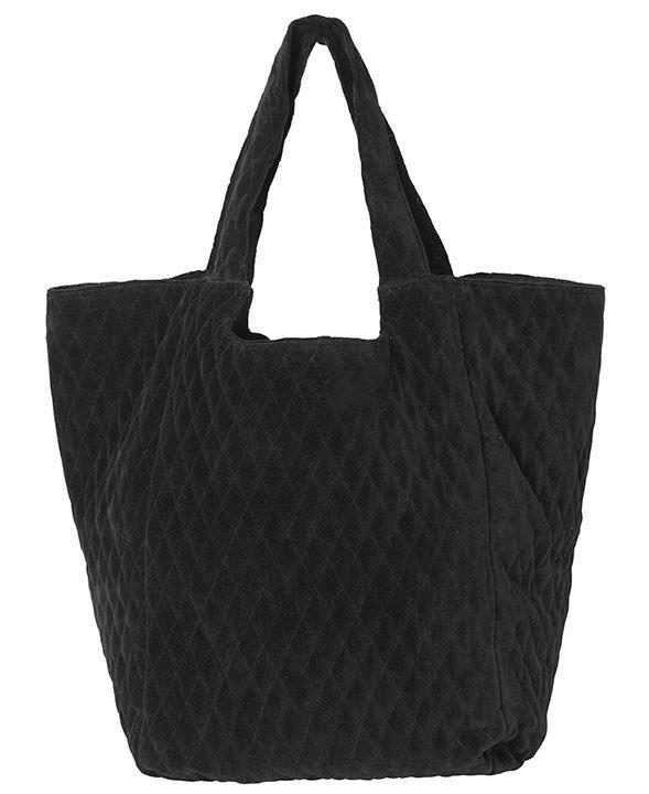 """Tasche aus Baumwollsamt """"Capucine"""" in schwarz"""