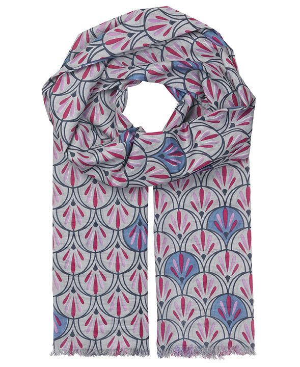 """Schal aus Baumwolle """"Doriane"""" in pink"""