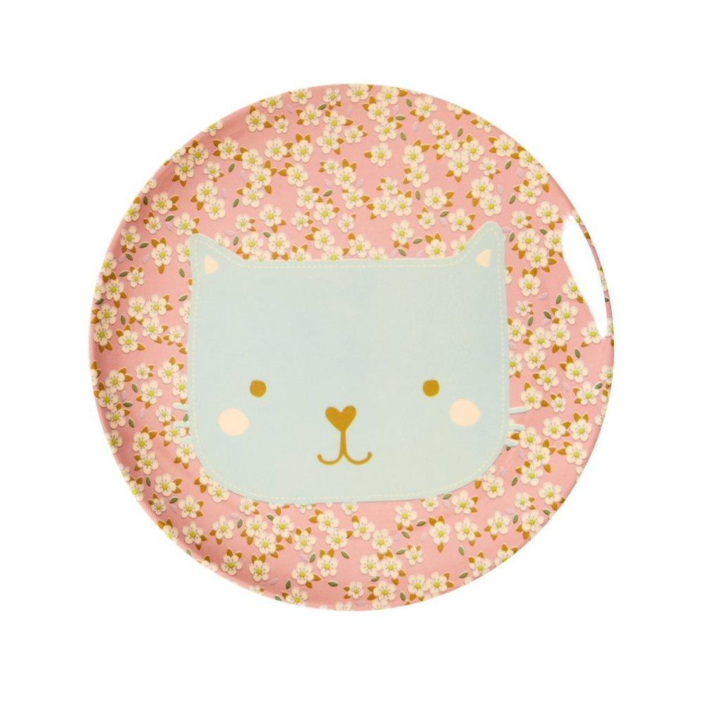 "Kinderteller aus Melamin ""Animal Print - Katze"", ø 20cm"