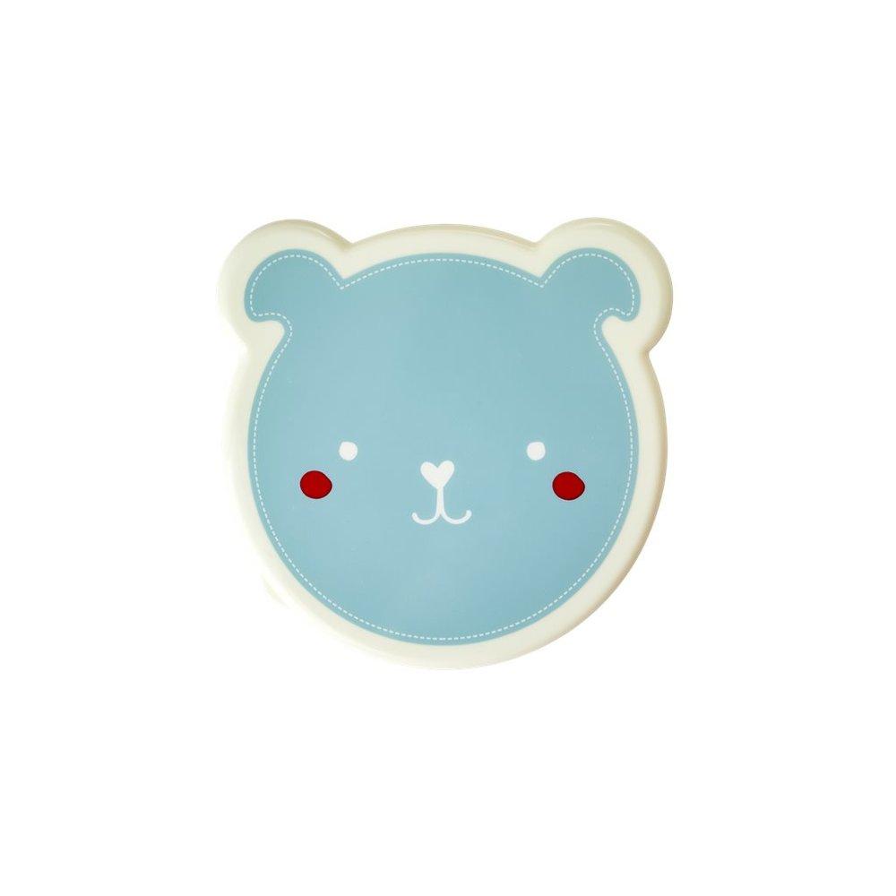 "Snackboxen im 4er-Set ""Animal Print - Bär"" in blau"