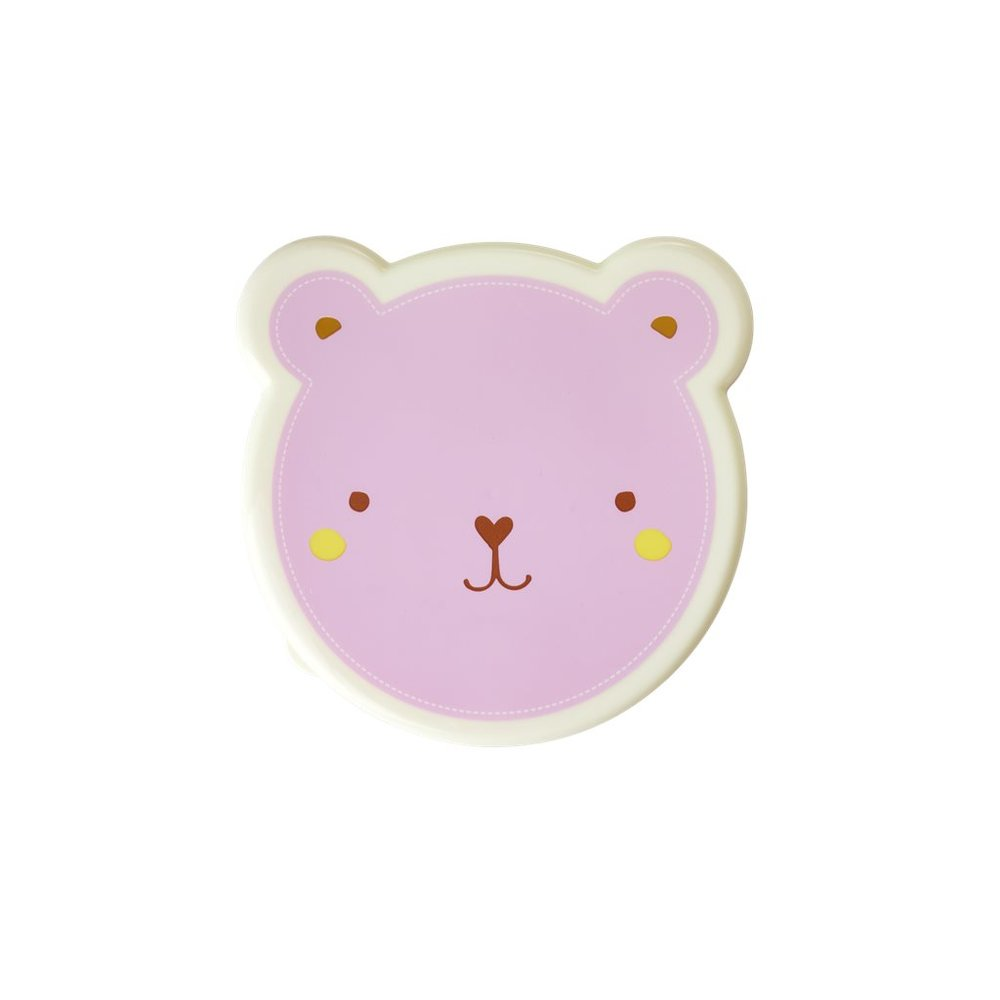 "Snackboxen im 4er-Set ""Animal Print - Bär"" in pink"