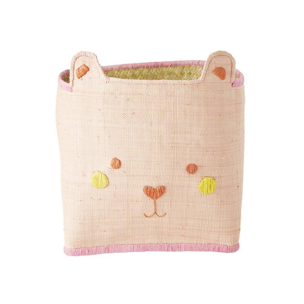 """Spielzeugkiste klein """"Bear Face Pink"""""""