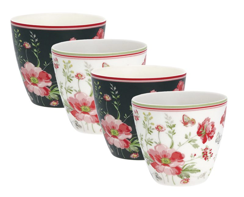 Romantik-Feeling-Set : 4er Set Latte Cup Becher von GREENGATE