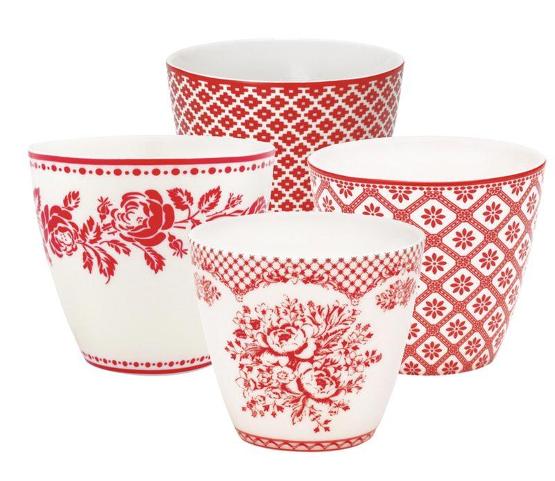 Lovely Red: 4er Set Latte Cup Becher von GREENGATE