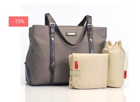 "SALE: Wickeltasche ""Gigi Glimmer"" in grau"