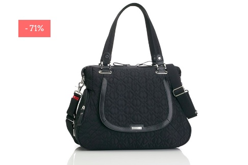 "SALE: Gesteppte Wickeltasche ""Anna"" in black"