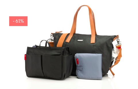 "SALE: Wickeltasche & Mini Bag ""Noa"" in schwarz"