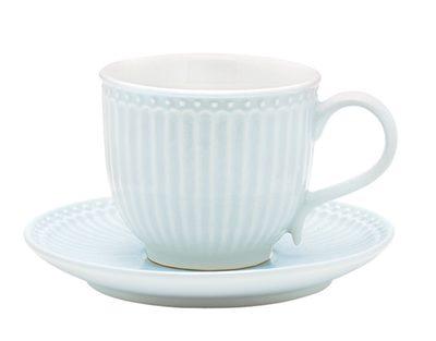"""Tasse mit Untertasse """"Alice Pale Blue"""""""