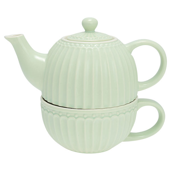 "Teekanne mit Tasse ""Alice Pale Green"""