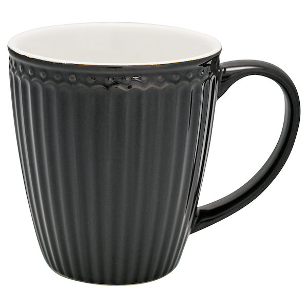 "Becher mit Henkel ""Alice Dark Grey"""