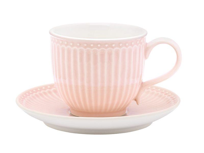 """Tasse mit Untertasse """"Alice Pale Pink"""""""