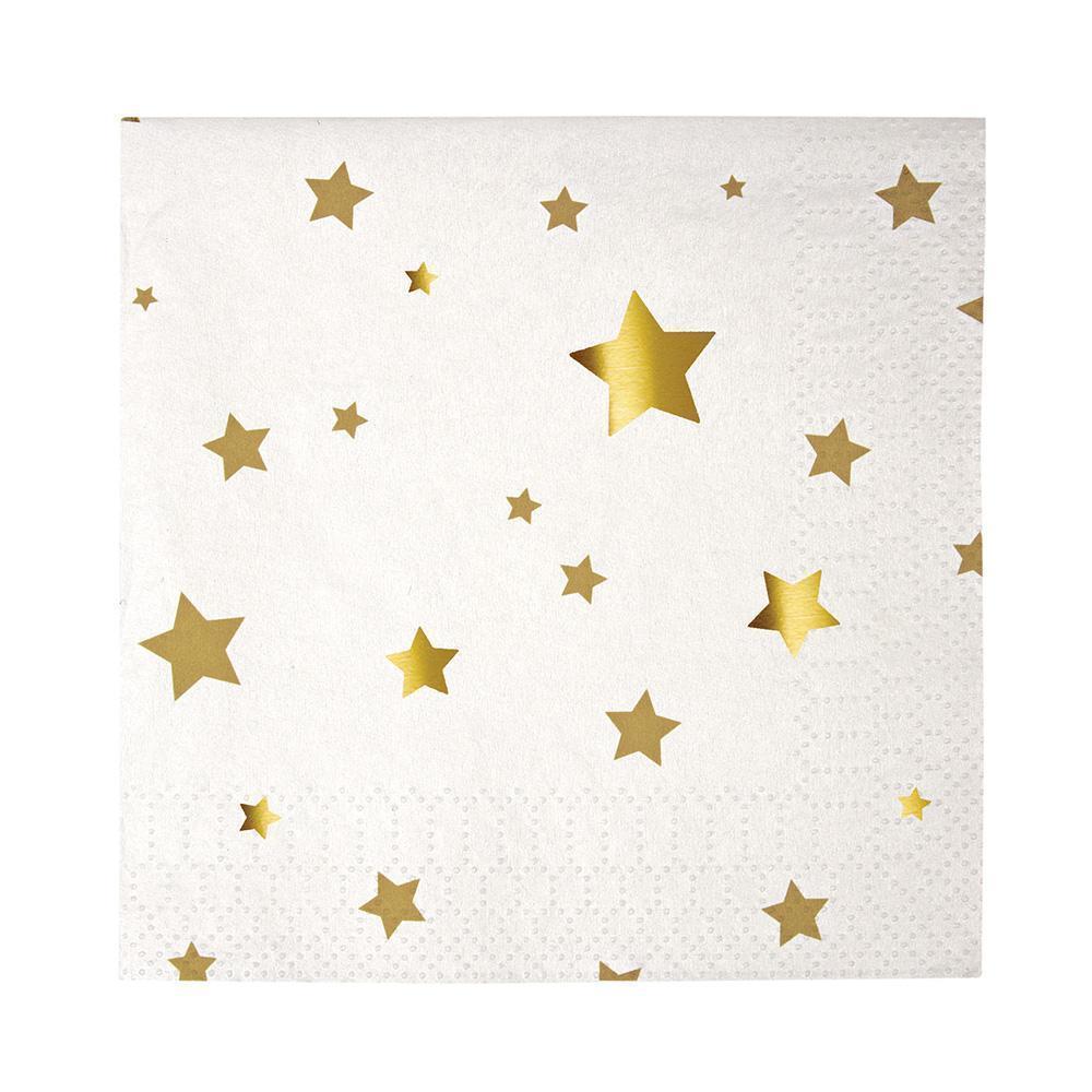 """kleine Papierservietten """"Gold Star Confetti"""" von MERI MERI"""