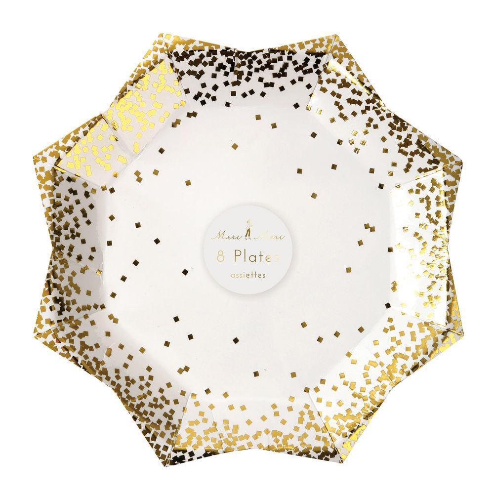 "Pappteller ""Gold Confetti"" von MERI MERI"