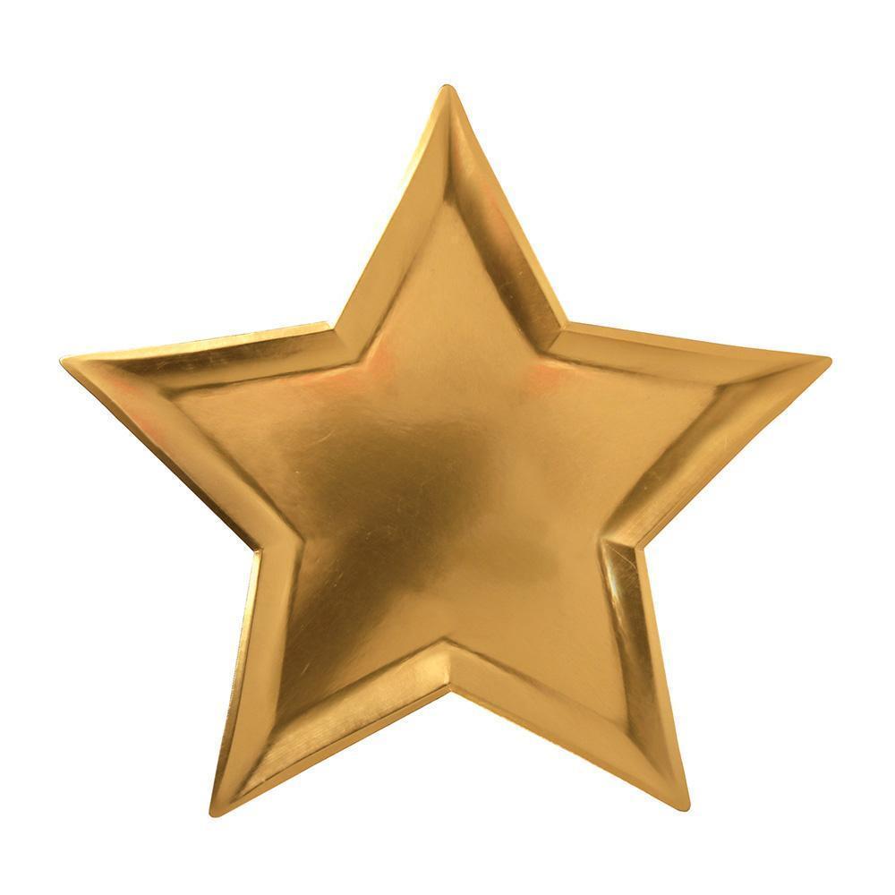 """Pappteller """"Gold Star"""" von MERI MERI"""