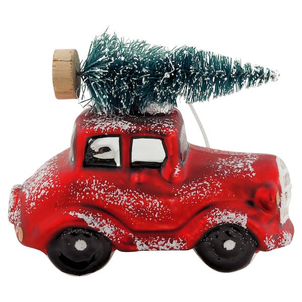 """Christbaumschmuck """"Car Red with tree"""" von GREENGATE"""