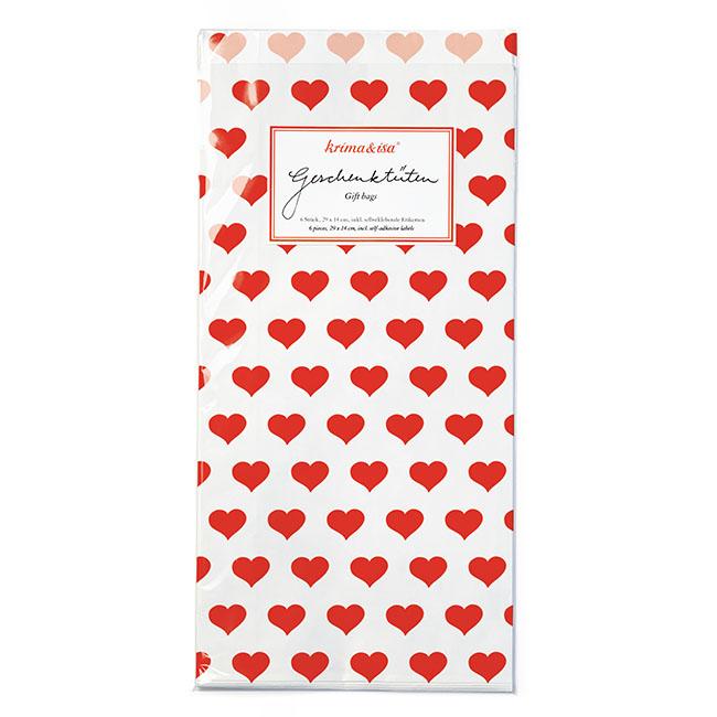 """Geschenktüten """"Herzen rot"""" von KRIMA&ISA"""