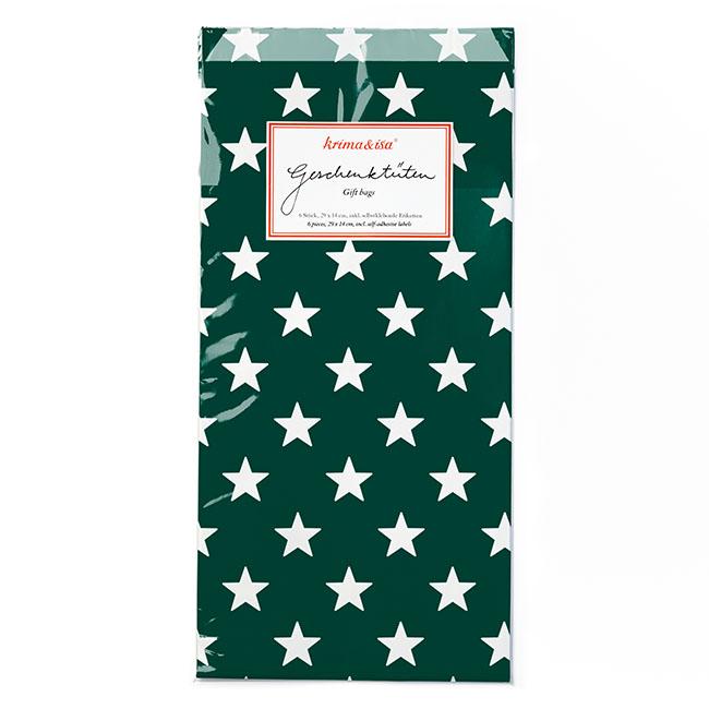 """Geschenktüten """"Sterne dunkelgrün"""" von KRIMA&ISA"""
