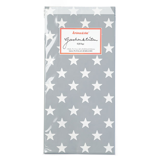"""Geschenktüten """"Sterne grau"""" von KRIMA&ISA"""