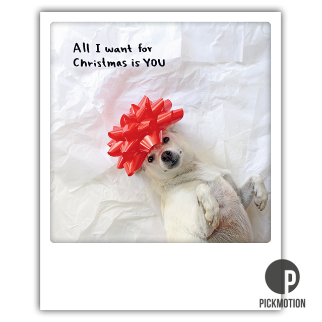 """Postkarte """"All I Want For Christmas Is You"""" von PICKMOTION"""