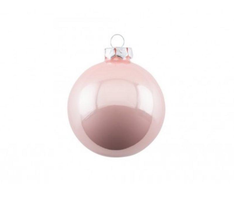 """Weihnachtskugel-Set aus Glas """"Opal"""" in blush von GIFT COMPANY"""