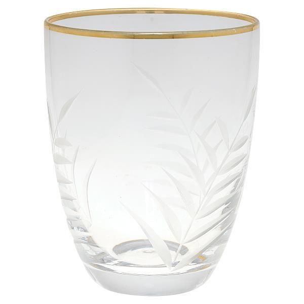 Wasserglas mit Verzierung von GATE NOIR
