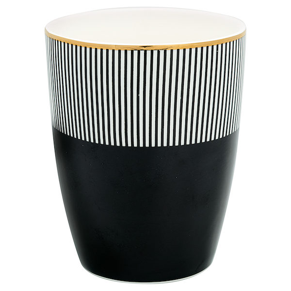 "Latte Cup Becher ""Corine Black"" von GATE NOIR"