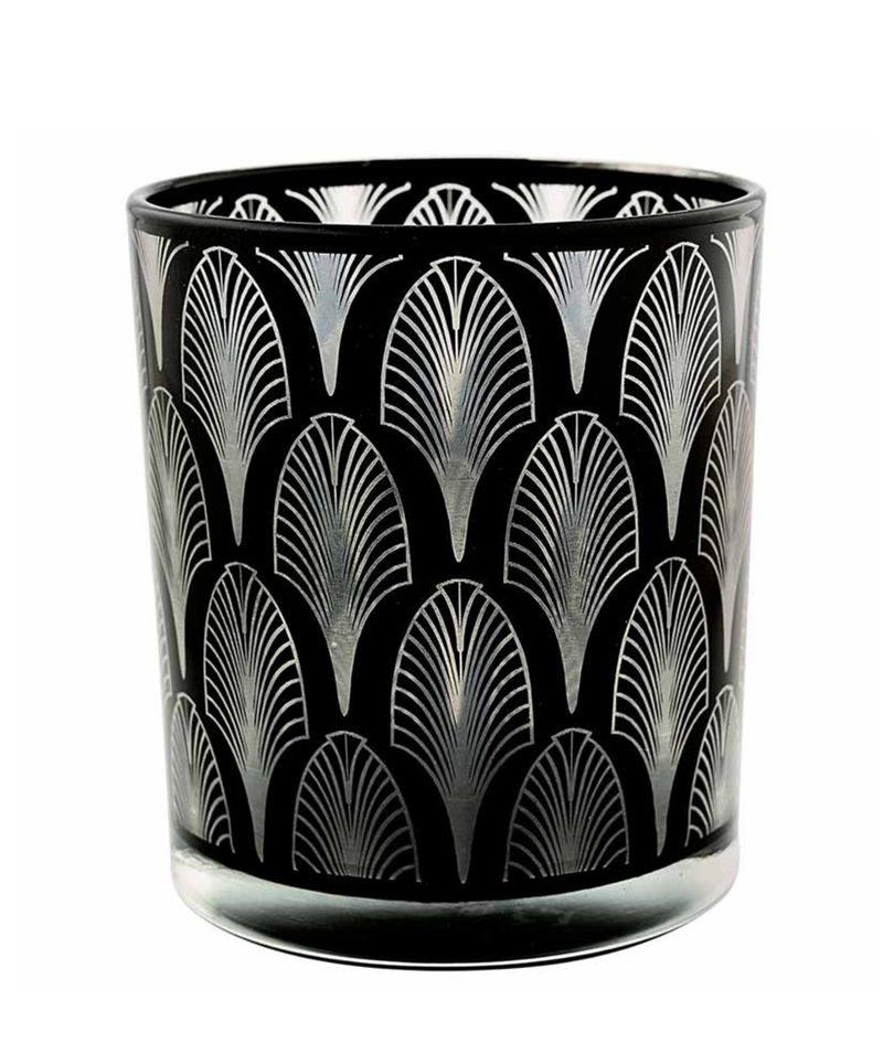 """Teelichtglas """"Hurricane Relief Pattern"""" von GATE NOIR"""