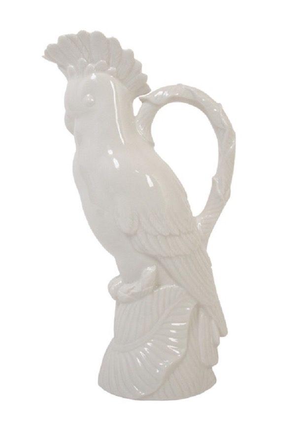"""Karaffe oder Vase """"Kakadu Weiß"""" von &K AMSTERDAM"""