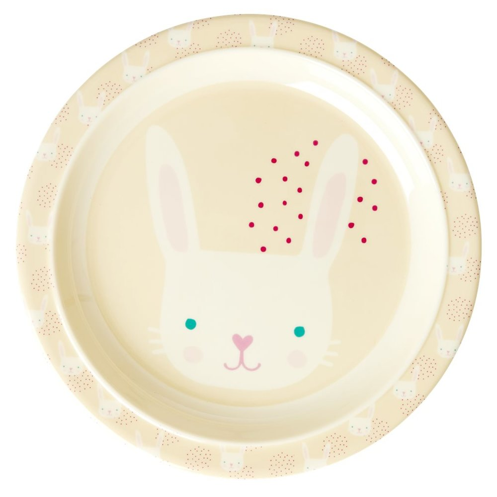 "Kinderteller ""Rabbit Print"" von RICE"