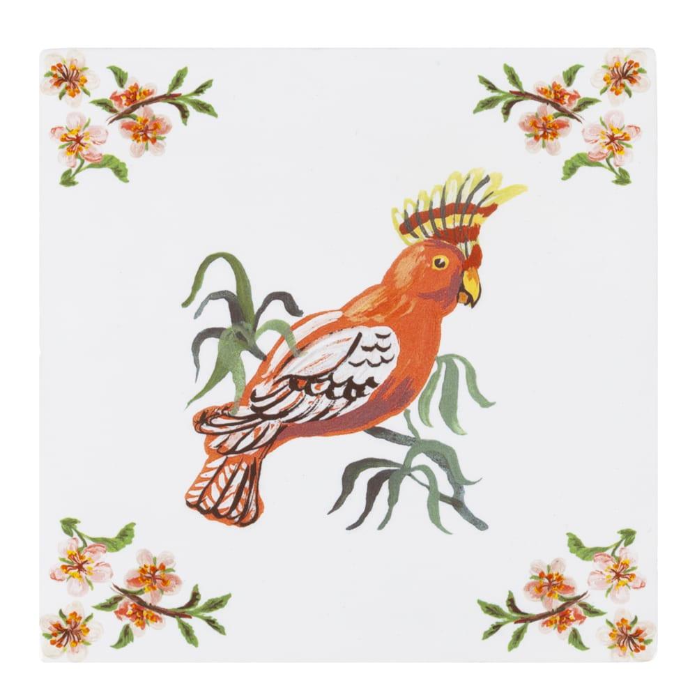 "Kachelbild ""Tropical Bird"" Paradiesvogel"