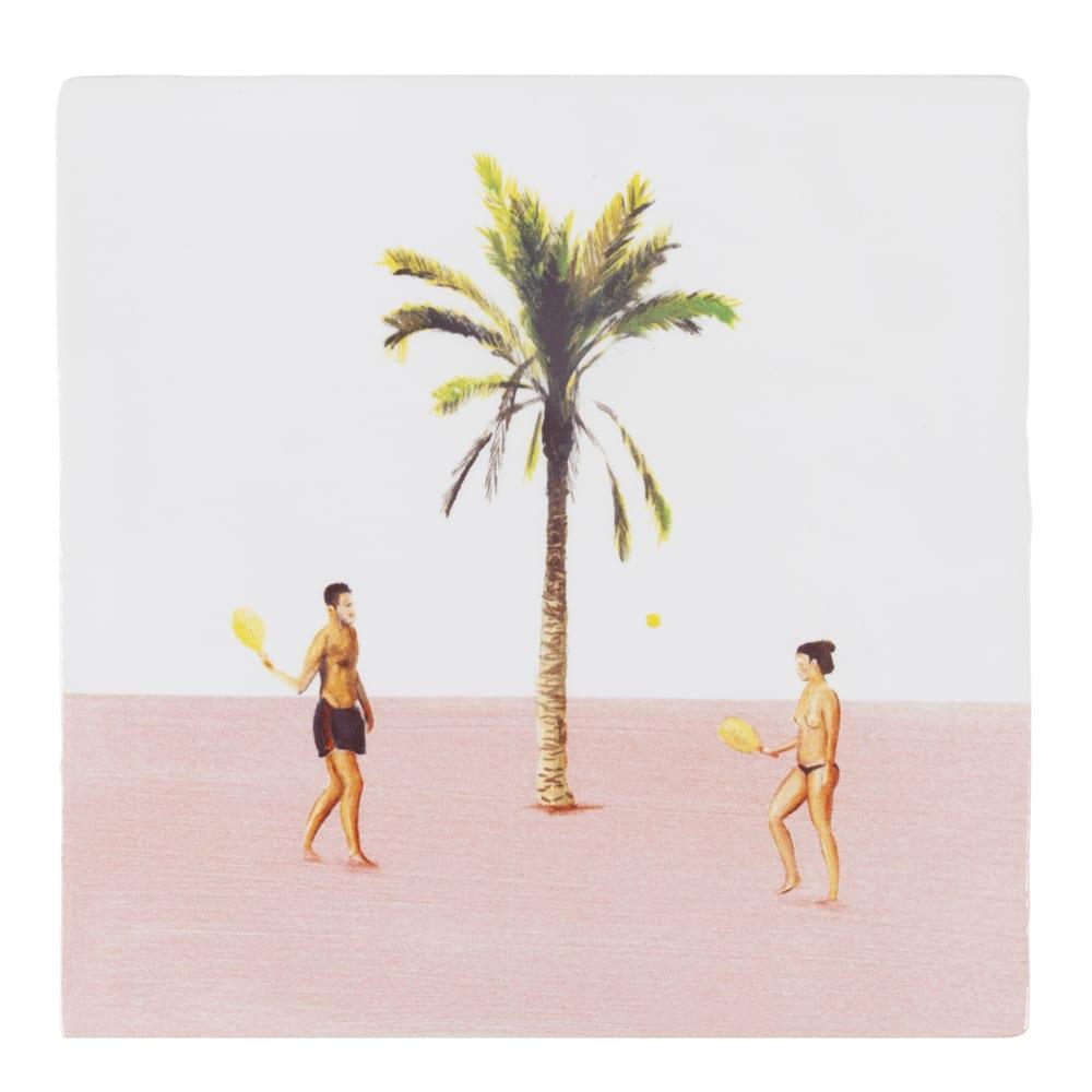 "Kachelbild  ""On a deserted Island"" Einsame Insel"