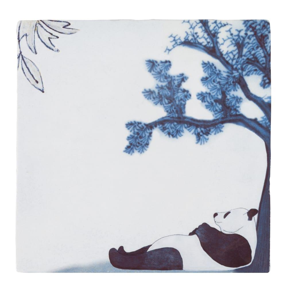 "Kachelbild ""Chilling Panda"""
