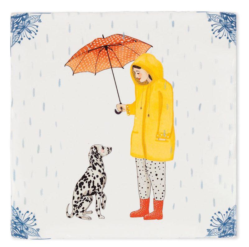 """Kachelbild """"It´s raining dogs"""""""