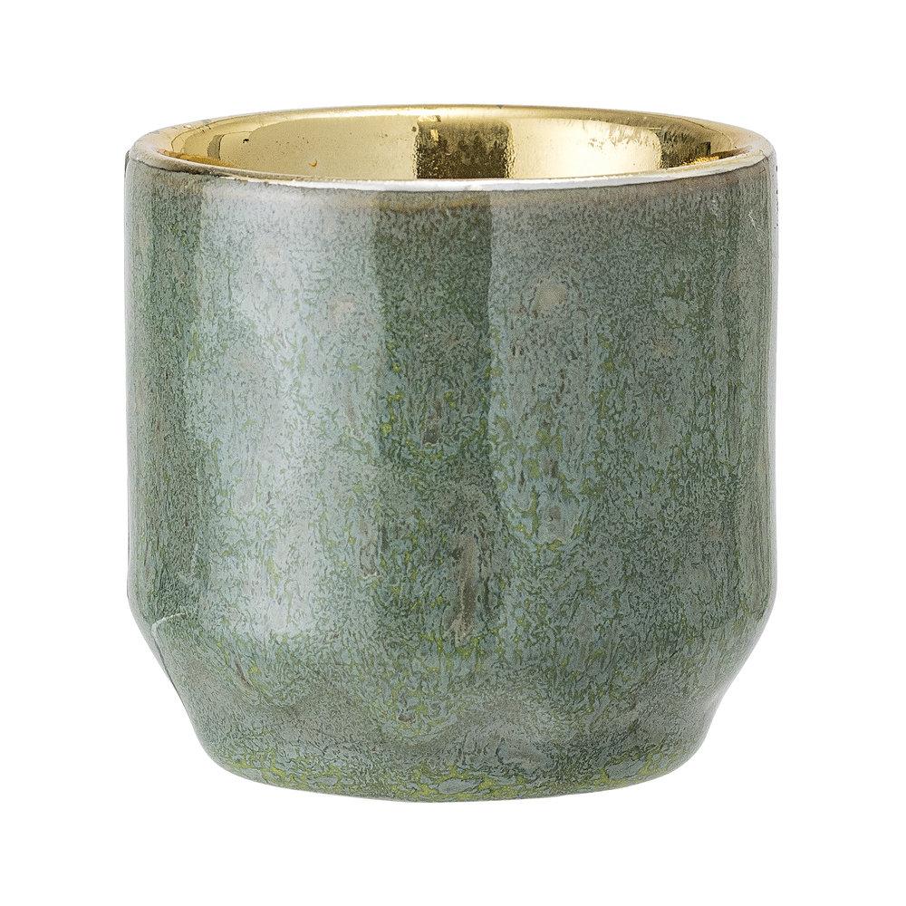 """Windlicht """"Stoneware Green/Gold"""" von BLOOMINGVILLE"""