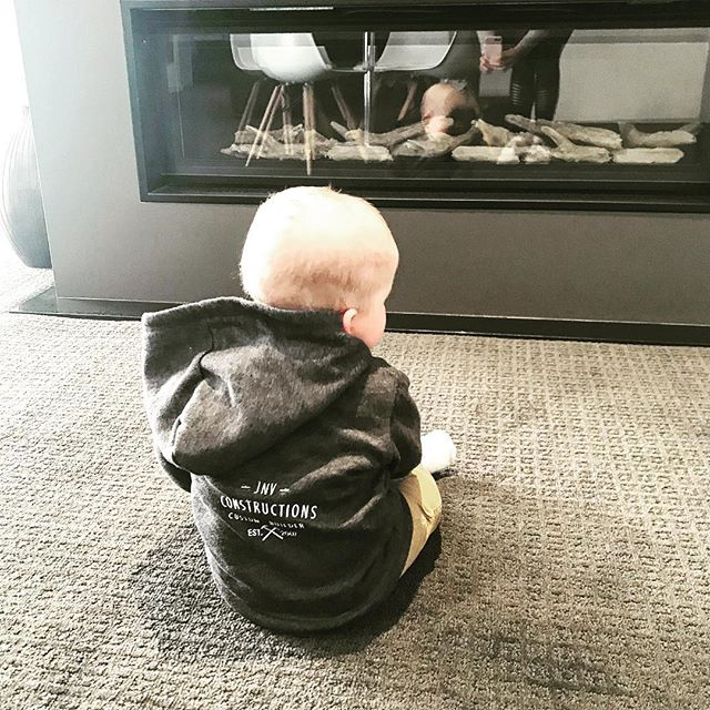 Starting the little man early - selecting fireplaces for Burrawang 🔥  #jnvconstructions #custombuilder #design #develop #flip