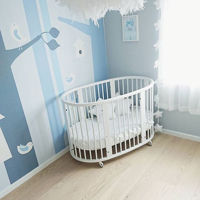 ... and here's the finished room. Well done @charlottesandal. It looks amazing 👏🏻🙌🏻👌🏻😘 #snedesign #wallmural #tapet #barnerom #barnrum #photowall_sweden #børneværelse #kinderzimmer #chambrebebe #chambreenfant #kidsroom #nursery #nordicnursery