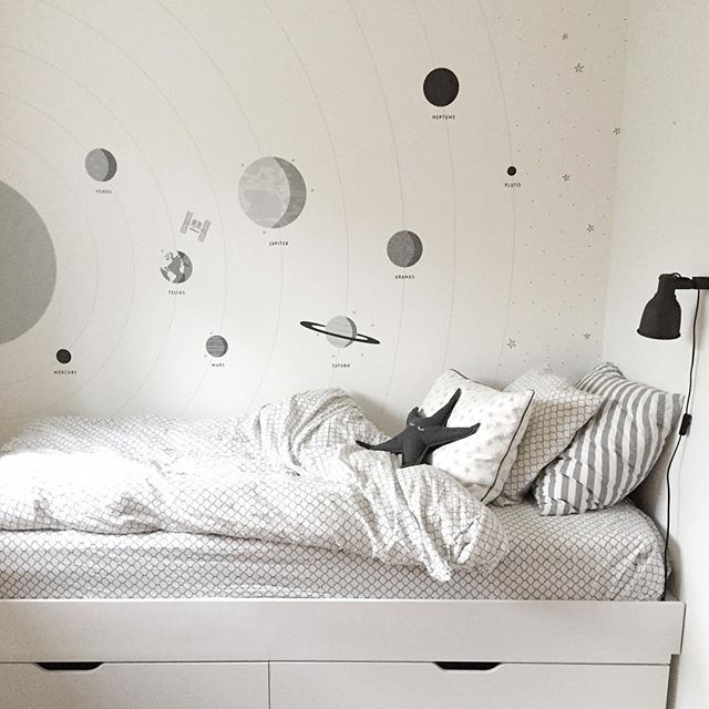 Lately I've been designing a few new wall murals for @photowall_sweden. My oldest son is fascinated by the solar system and outer space, so this design was made with love for my little man. Planets, the sun, stars and the international space station. He approved it last week, and next week it will be available at Photowall.com #barnerom #barneromsinspo #melohberry #snedesign #wallmural #barnrum #barnrumsdetaljer #barnrumsinredning #børneværelse #kidsroom #chambreenfant #kinderzimmer #kinderzimmerdeko