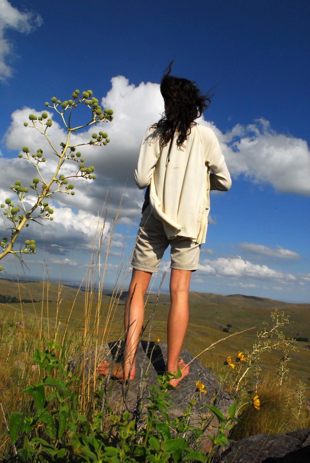 Walking in the grasslands around Estancia Los Potreros