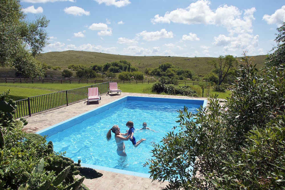 The Swimming Pool at Estancia Los Potreros Argentina