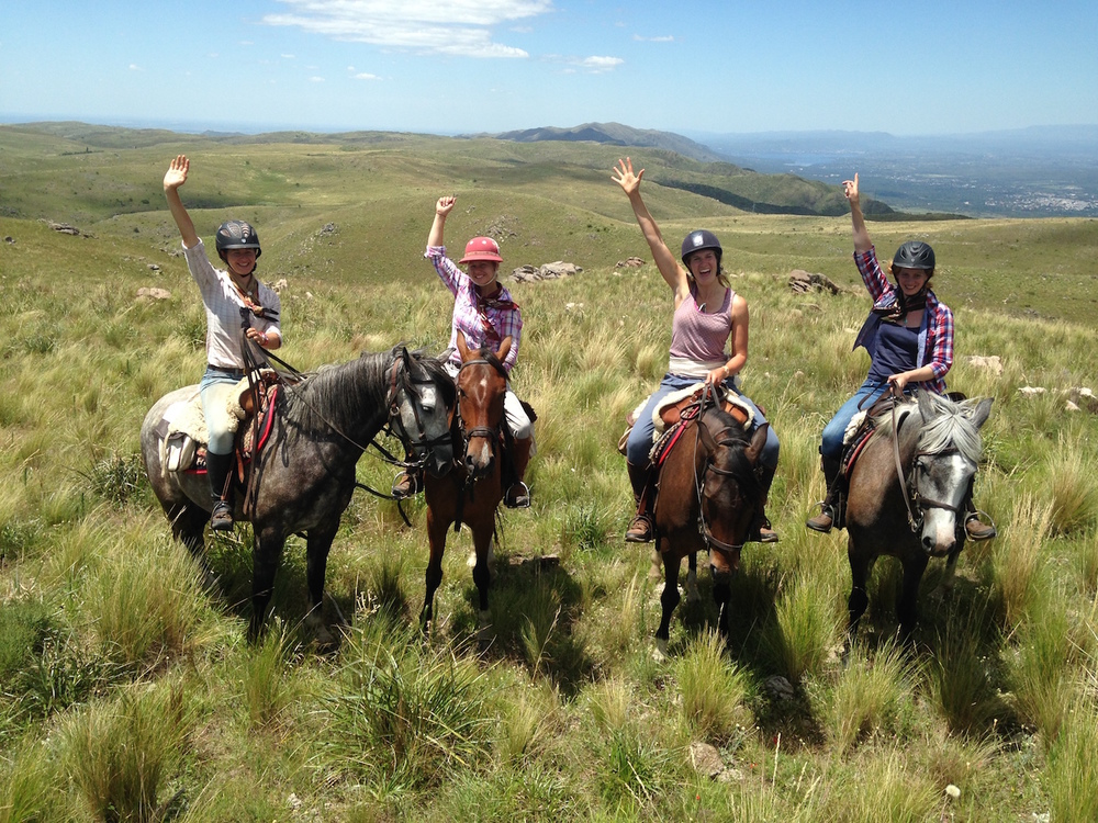 Vacation Guests Horse Riding Around Los Potreros