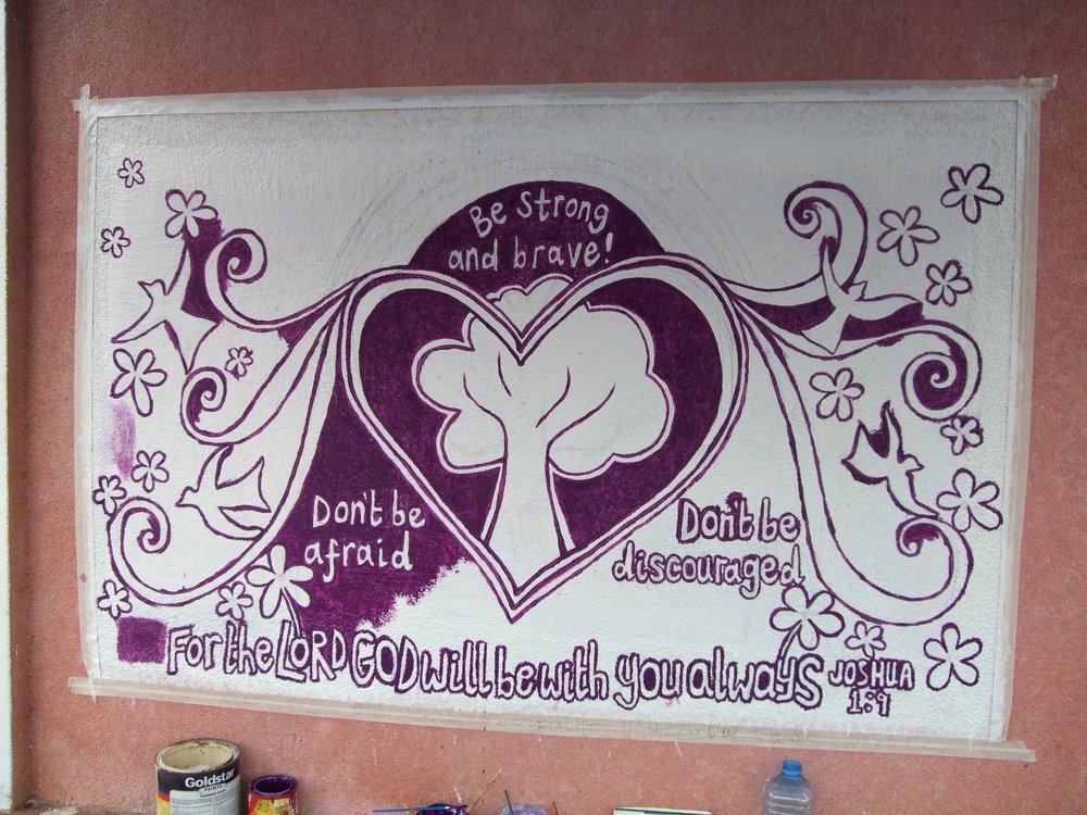 a mural for Living Hope pre & primary school in Morogoro, Tanzania.
