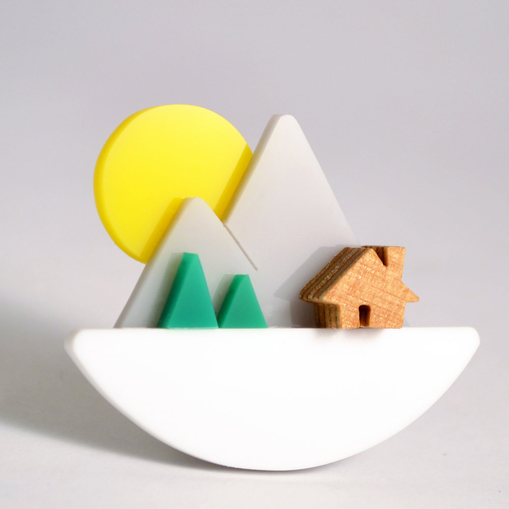 i am acrylic Mountain Sunset Brooch.jpg