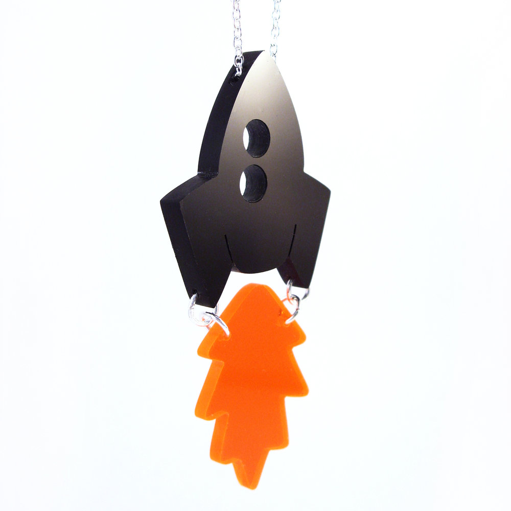 i am acrylic Rocket and Flame Necklace.jpg