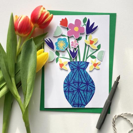 DIY vase of flowers card Little Paper Vee.png