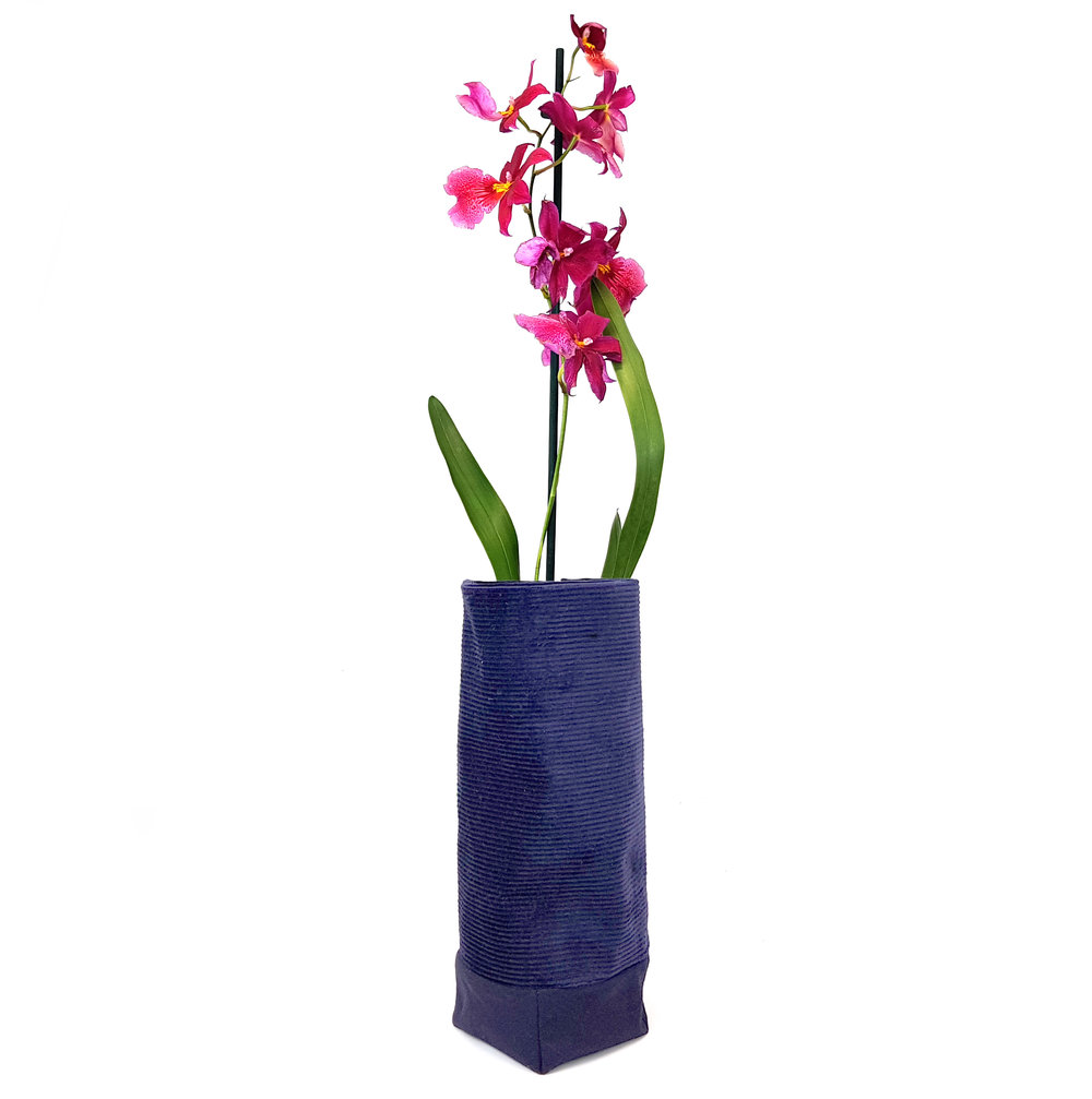 Navy stanfing vase - orchid.jpg