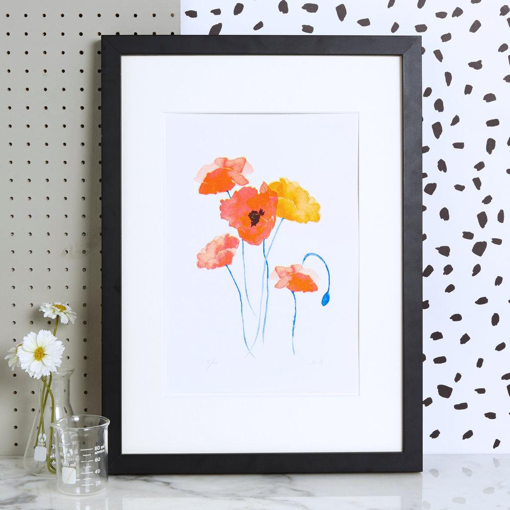 Blank Inside, Poppies Risograph Art Print with wildflower seeds, £18, www.blankinsidedesign.co.uk.jpg