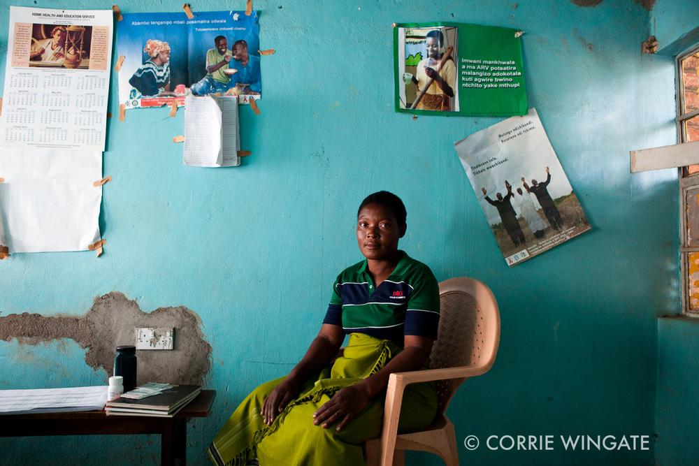 Antenatal check up, Senzani health centre, Ntcheu district, Malawi, Africa