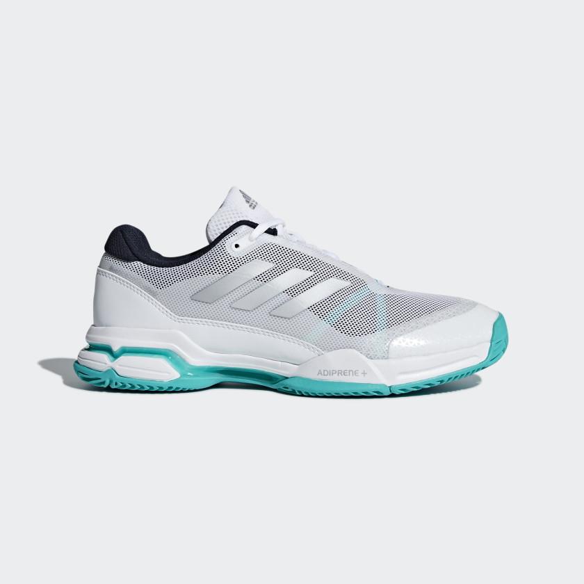 Men's) Adidas Barricade Club - White