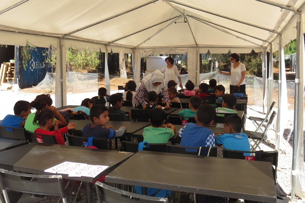 July 2016: Grand opening of I AM YOU's 3-classroom learning centre in Ritsona, providing a full curriculum for children including lessons in English, Greek, German, Mathematics, Science, Arts and PE. During the afternoon, conversational classes and language lessons were also provided for adults.